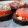 Eggplant Tomato Stacks