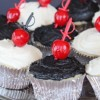 Cherry & Sword-Speared Cupcakes & Cake Squares
