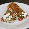 Spinach-Feta-Bacon Frittata (or Spanish Tortilla)