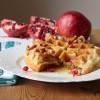 Pomegranate Oatmeal Waffles