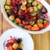 Roasted Brussels Sprouts, Beets & Carrots