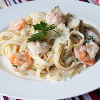 Shrimp Fettuccine Alfredo