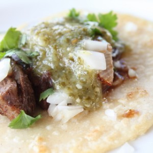 Steak Taco with Homemade Corn Tortilla