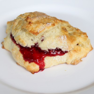 Plain Scone with Raspberry Jam