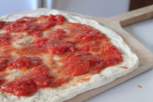 Sourdough Crust with Pizza Sauce