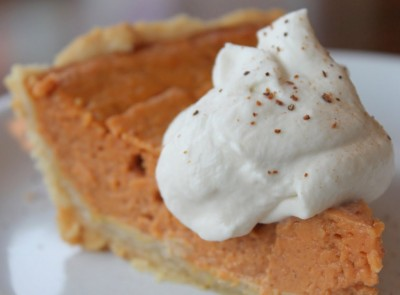 Pumpkin Pie with Nutmeg Whipped Cream