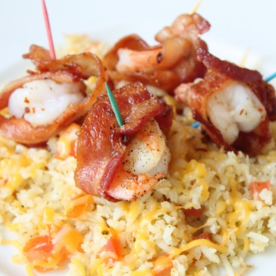 Camarones con Tocino {Bacon-Wrapped Shrimp}