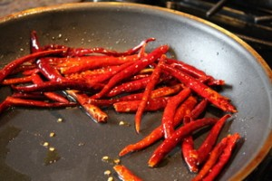 Cooking Chiles de Arbol