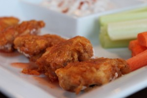 Baked Chicken Nuggets with Creamy Bacon Dip