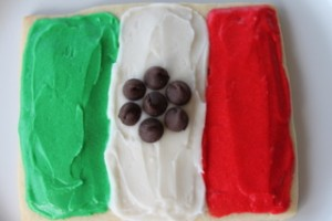 Mexican Flag Sugar Cookie