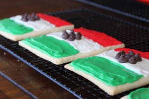 Mexican Flag Sugar Cookies