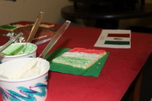 Mexican Flag Sugar Cookie Decorating Station