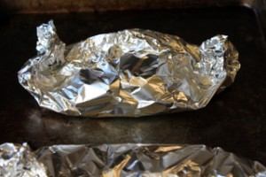 Foil-Wrapped Fish Ready to Steam