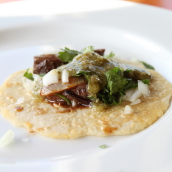 Carne Asada Taco with Homemade Corn Tortilla