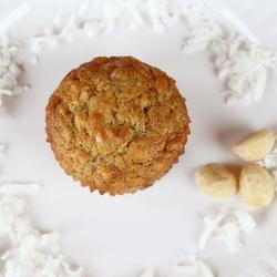 Coconut-Banana Macadamia Nut Muffins