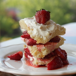 Strawberries & Cream Layer Cake