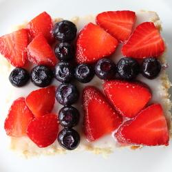 Norwegian Flag Cake