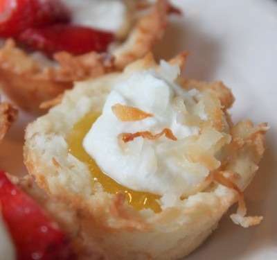 Lemon Coconut Macaroon Tartlets