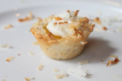 ... make lemon coconut macaroon tartlets and strawberry coconut macaroon