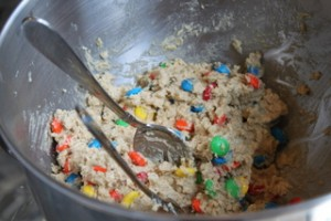 Oatmeal M&M Cookie Dough