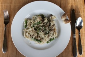 Morel Mushroom & Asparagus Risotto