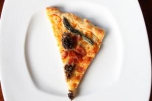 Morel, Asparagus & Bacon Pizza