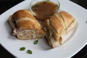 Quick Chicken & Turkey French Dip Sandwich