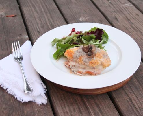 Chicken Cordon Bleu with Cream of Mushroom Soup