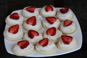 Strawberry Frosted Sugar Cookies