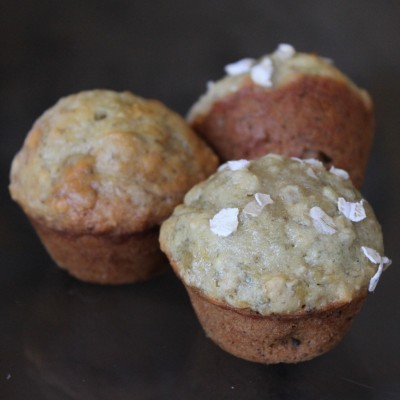 Mini Banana Nut Oatmeal Muffins