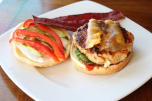 Turkey Burger with Turkey Bacon
