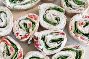 Assortment of Turkey Pinwheel Wraps