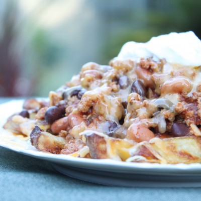 Baked Turkey Chili Cheese Fries