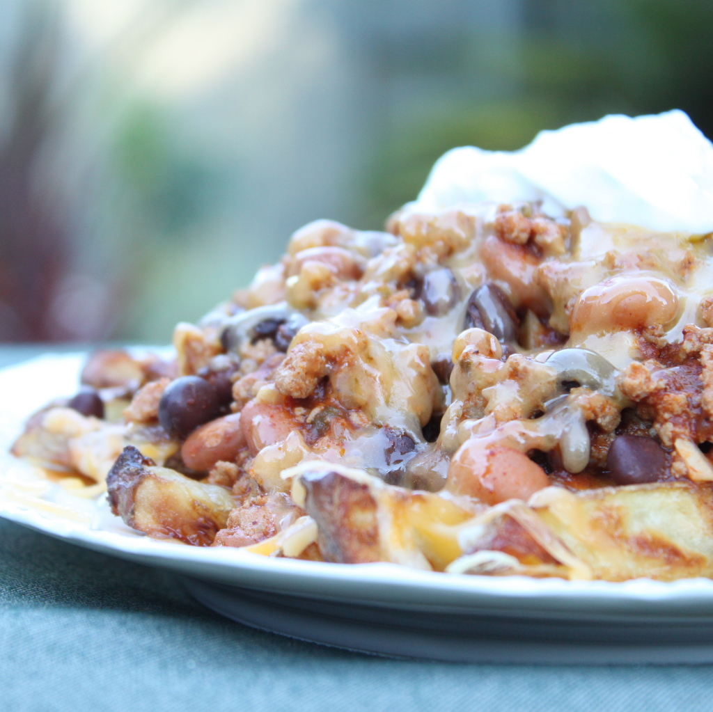 Baked Turkey Chili Cheese Fries   Itsy Bitsy Foodies