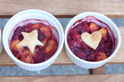 Mini Crustless Peach-Raspberry Tarts