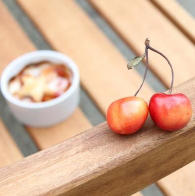 Mini Crust-less Cherry Tart
