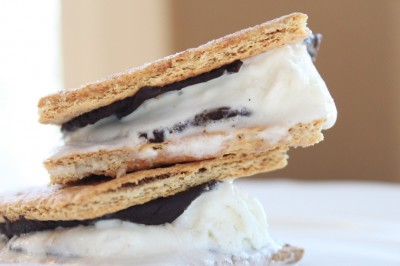 S&#039;mores Ice Cream Sandwiches