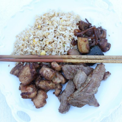 Teppanyaki-Style Teriyaki Chicken and Steak