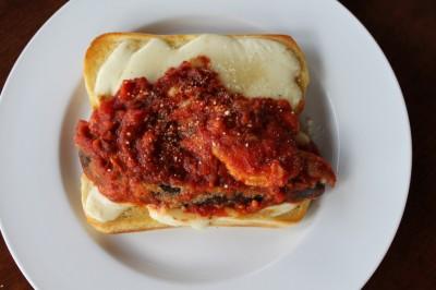 Chicken & Eggplant Parmesan Sandwich