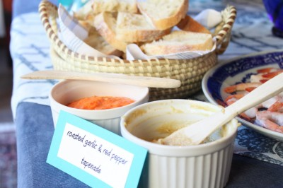 Roasted Garlic & Roasted Red Pepper Spreads