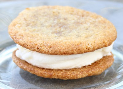 Gingersnap Vanilla Ice Cream Sandwiches