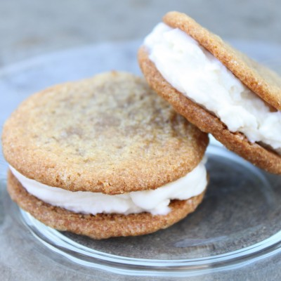 Gingersnap Vanilla Ice Cream Sandwiches