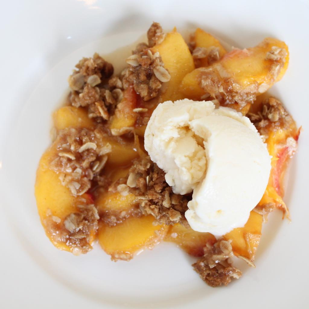 Peach Crisp   Itsy Bitsy Foodies