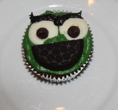 Oscar the Grouch Cupcake