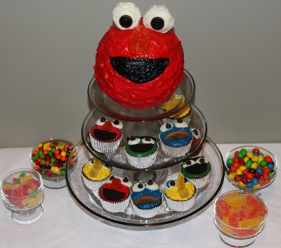 sesame street cupcakes. Elmo Cake amp; Sesame Street