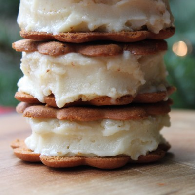 Eggnog Ice Cream Sandwiches