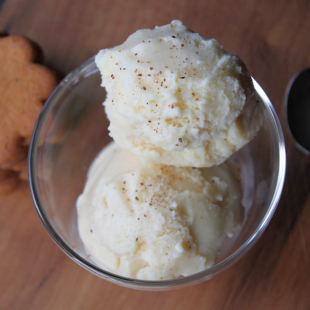 ... made eggnog ice cream and it has now become a holiday tradition