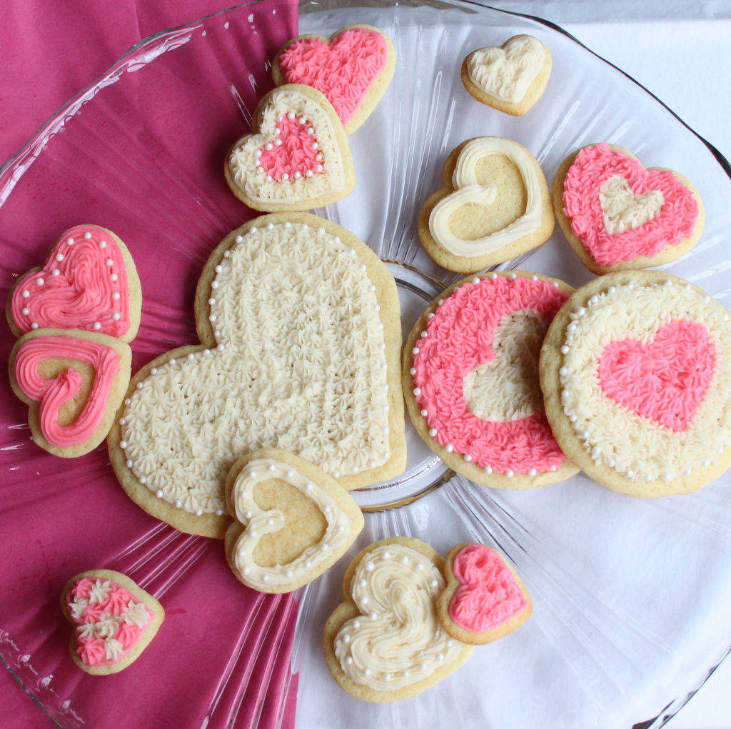 Valentine Heart Sugar Cookies | Itsy Bitsy Foodies