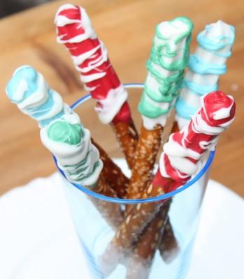 Chocolate-Swirled Pretzel Rods