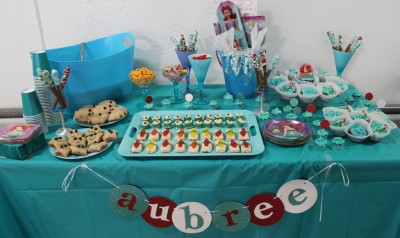 Ariel Birthday Party Dessert Table